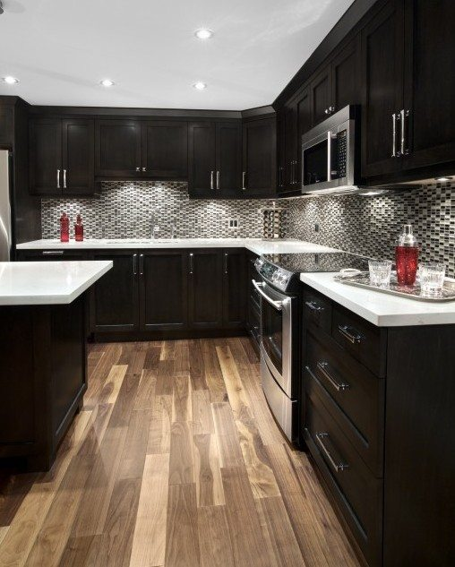 Dark Kitchen Cabinets Light Floors: Kitchen Renovation Vancouver